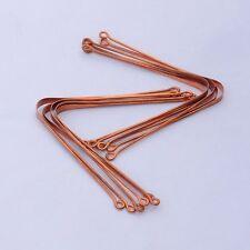 3 x 100% Copper Metal Tongue Cleaner Ayurvedic Scraper for Men & Women Oral Care