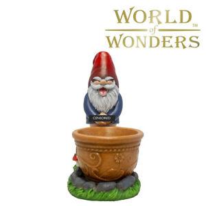 "Peeing Gnome Figurine Flower Planter Garden yard Home Decor 9.5"" Novelty Gifts"