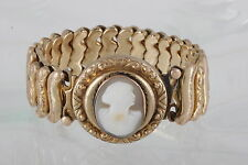 ROSE & GOLD FILLED JEWEL GUILD MADE IN USA CAMEO BRACELET VINTAGE SIGNED 0551B