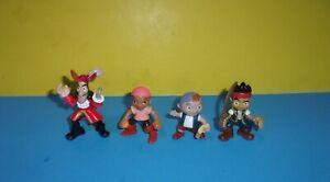 Disney Jake & The Neverland Pirates Figures Set Toy Jake Izzy Cubby Hook Figures