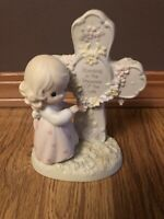 """1995 Precious Moments Figurine #163732- """"Standing in the Presence of the Lord"""""""