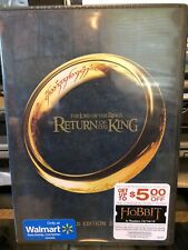 Lord of the Rings Return of the King 2 Disc Extended (Dvd) Peter Jackson, New!