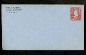 US Postal Stationery U388a Unused Envelope Entire 2c Pink on Blue Washington