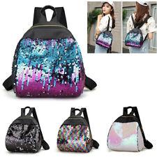 Women Girl Sequins School Backpack Travel Leather Handbag Rucksack Shoulder Bag