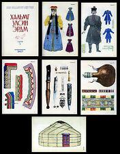 Art Folklorique Kalmyk 1970 costumes traditionnels Bijou Russe URSS Mongol