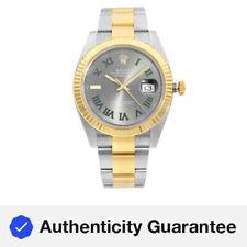 Rolex Datejust 41 18K Gold Steel Slate Wimbledon Dial Automatic Men Watch 126333