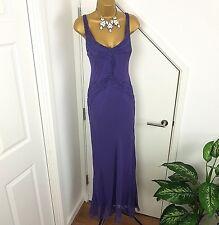 Gina Bacconi Dress Max Silki Sleeveless Purple Size 14 Special Occasion