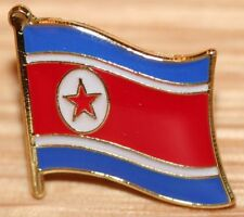 NORTH KOREA Korean Flag Country Metal Lapel Pin Badge