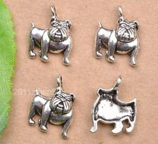 wholesale 30pcs tibetan silver dog charm pendant fit findings 17mm