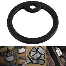 3Pcs Rubber Military Dog Pet Tag Noise Silencer Bumper Fastener Ring Black