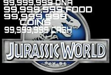 Jurassic World The Game Builder IOS Android DNA Food Coins Cash VIP 30 Legendary