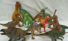 Vintage Dinosaurs Lot Of 13 Jurassic Era Plastic Prehistoric Toys T Rex