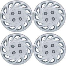 858 Universal Wheel Cover ABS Wheel Skins Set Hub Caps Silver 17'' -Set of 4