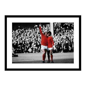 George Best and Denis Law Manchester United Legends Spot Colour Photo (SPOT647)