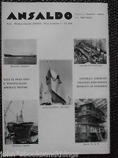 1965 ANSALDO NAVI MOTORI MOTONAVE GALASSIA AMALFI CACCIATORPEDINIERE INTREPIDO