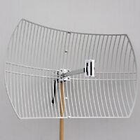 2.4GHz 802.11bgn 24dBi WiFi Parabolic Grid Antenna N Female Mounting Kits