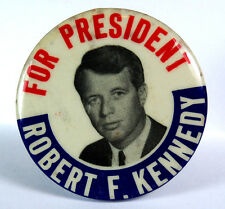 """Political Pinback Button (6) - """"Robert F Kennedy for President"""" Campaign Button"""