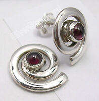 """Details about  /925 Silver Authentic EMERALD MULTI STONE UNUSUAL Stud Post Earrings 0.6/"""" NEW"""