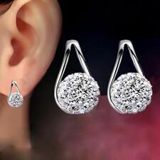 Shambhala Jewelry Crystal Ball Earrings Ear Stud Silver Plated