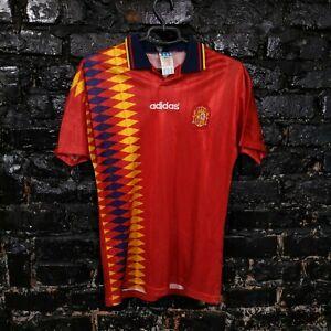Spain Team Jersey Home football shirt 1994 - 1996 Red Adidas Trikot Mens Size S