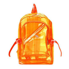 Unisex Transparent Travel Bag  School Security Clear Backpack Book Bag Plastic