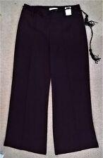 DONNA NEXT pantaloni & perline CINTURA NERA TAGLIA 12 REG NUOVO con etichette