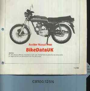 Honda CB100N (1978 >>) Genuine Factory PDI Set-Up Manual CB 100 125 CB125N CT01