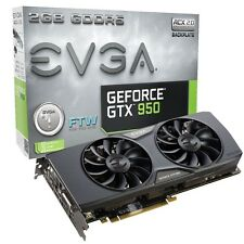 USED EVGA GeForce GTX 950 2GB FTW Silent Cooling Gaming Graphics Card