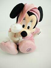 "Disney store 16"" Minnie mouse pink bedtime pyjamas plush soft toy"