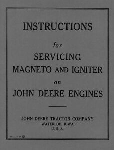 John Deere Magneto and Igniter Service Instructions