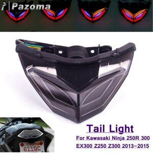 LED Brake Stop Tail Light Rear Turn Signal For Kawasaki Ninja 250R 300 2013-2015