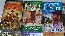 WILLIAM JOHNSTONE Lot 17 PBs Paperback Books Western Novels