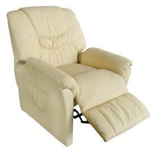 Massagesessel Fernsehsessel Relaxsessel Elektrisch TV Sessel mit Heizung Creme
