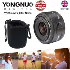 Yongnuo YN35mm F2.0 Wide Angle Large Aperture Fixed AF MF Lens For Nikon Camera