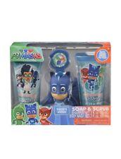 New 4 Pieces Pj Masks Soap & Scrub Kids Shampoo and Body Wash Bath Set
