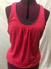 Prana Mika Pinkberry Red Pink Top S