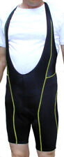 SALE $14.95 Falconi Cycling Bibshorts Bib Shorts Mens Blk/Yel Free USA Shipping