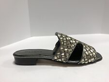 Sesto Meucci Geomar Womens Slide Sandal Pewter 8 M