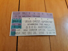 Jesus Christ Superstar Ticket Ted Neely 1996 Unique Free Ship!