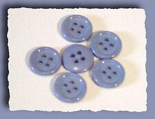 LOT 8 BOUTONS 14 mm * 4 trous * BLeu tendre * button blue sewing mercerie 1,4 cm
