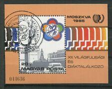 RUSSIE 1985 FESTIVAL MONDIAL DE LA JEUNESSE BLOC FEUILLET OBLITERE