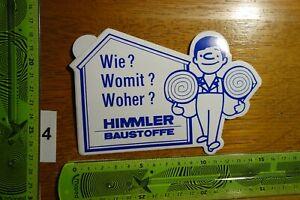 Alter Aufkleber Handwerk Hausbau Baustoffe Baumarkt HIMMLER (A)