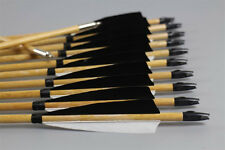 """12x 30"""" Handmade Wooden Arrows For Traditional Archery Longbow Recurve bow"""