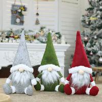 Christmas Faceless Gnome Santa Claus Plush Dolls Xmas Ornament Toy Table Decor