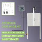 Automatic Chicken Coop Door Opener & Closer w Photocell 2 Remotes IR Sensor 66W