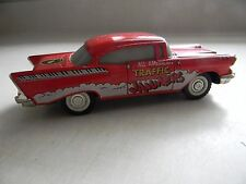 Vintage Diecast Majorette 57 Chevy Red Bel Air All American Traffic Jammers