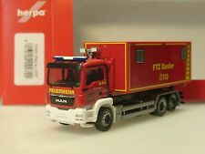 """Herpa MAN TGS M Wechsellader """"Feuerwehrtechnische Zentrale Goslar"""" 092722 - 1/87"""