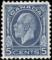 1932 Mint Canada Scott #199 5c King George V Medallion Stamp No Gum