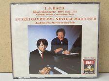 EMI JAPAN- JS BACH Keyboard Concertos GAVRILOV Piano/Marriner 2-CD 1987 No IFPI