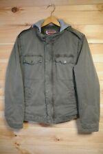 Levi's Military Style Jacket Medium Green Removable Hood